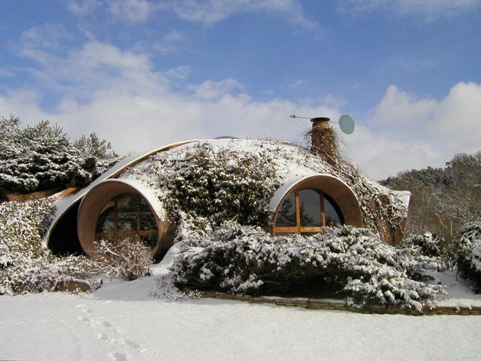 il neige a la maison bulle
