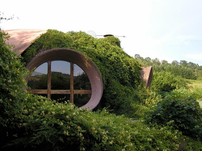 maison bulle végétalisée