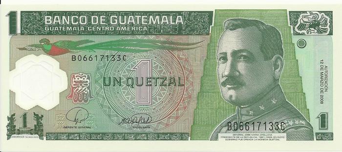 le quetzal, monnaie du guatemala
