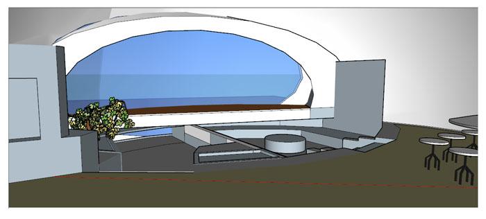 interieur maison bulle 3d