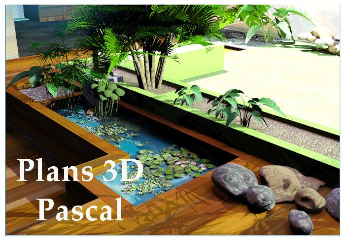 jardin paysager 3D Pascal