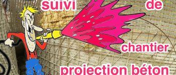 projection béton