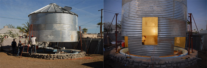 building silo house