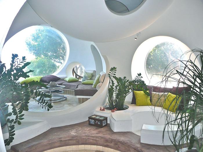 coin salon à la maison bulle