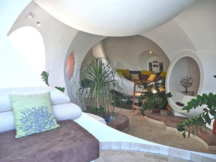 salon de la maison bulle