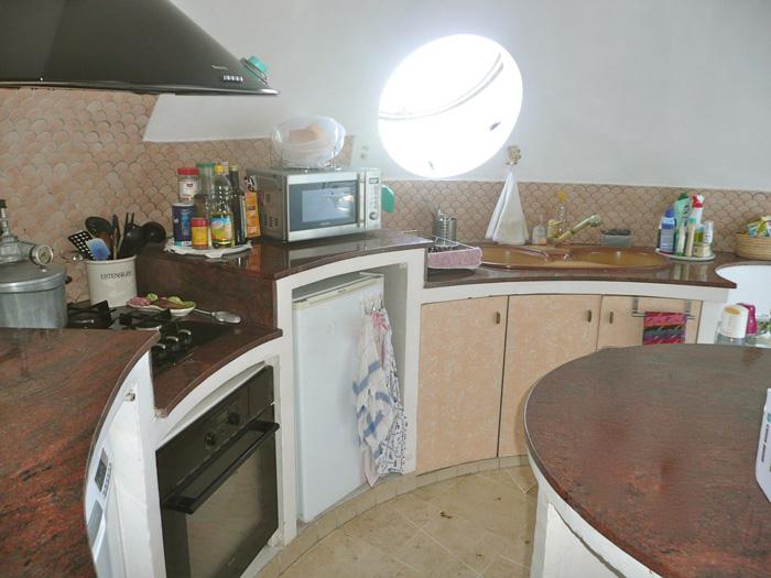 cuisine ronde maison bulle