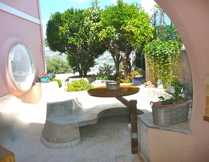 terrasse maison bulle